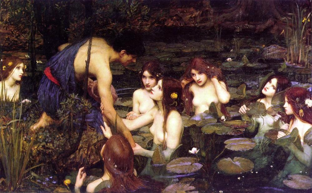 John William Waterhouse Hylas And The Nymphs, Canvas, John William Waterhouse, kanvas tablo, canvas print sales