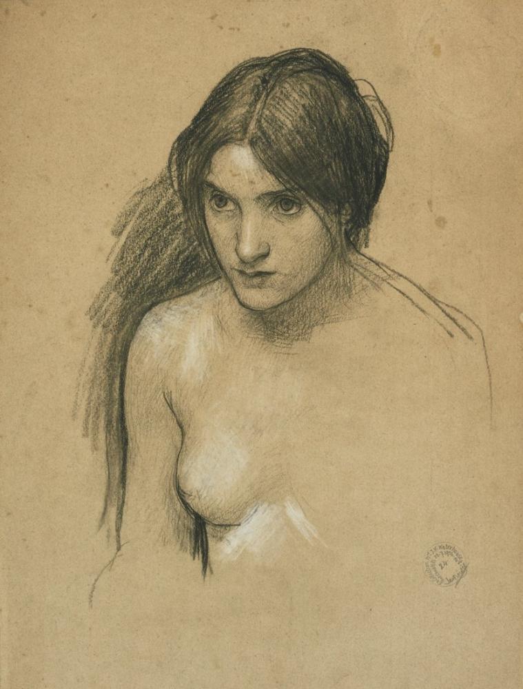 John William Waterhouse Hylas Ve Periler Çalışması, Kanvas Tablo, John William Waterhouse, kanvas tablo, canvas print sales
