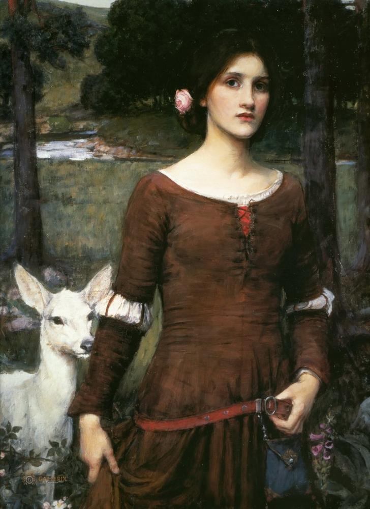 John William Waterhouse Leydi Clare, Kanvas Tablo, John William Waterhouse, kanvas tablo, canvas print sales