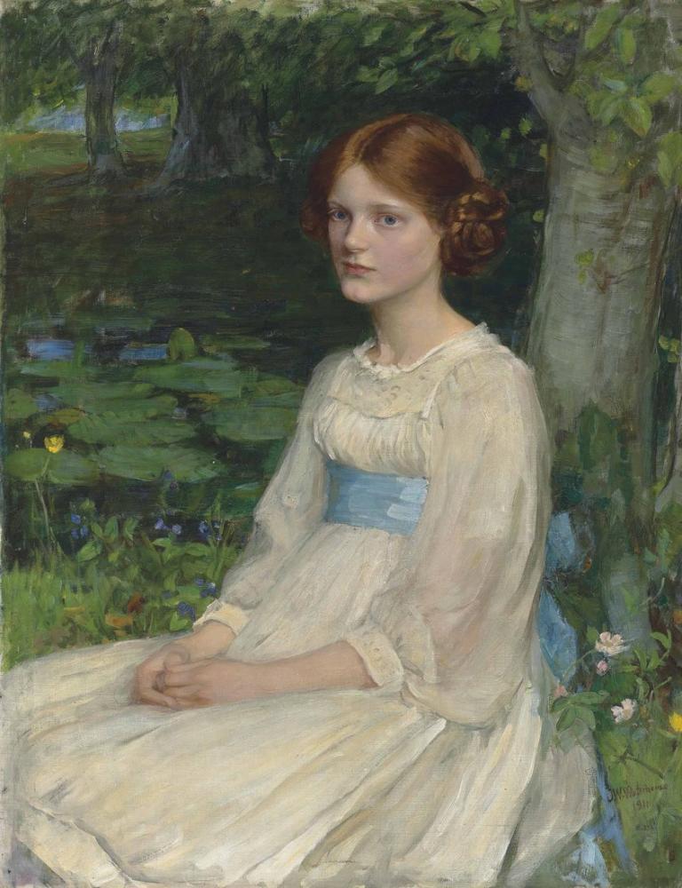 John William Waterhouse Miss Betty Pollock, Canvas, John William Waterhouse, kanvas tablo, canvas print sales