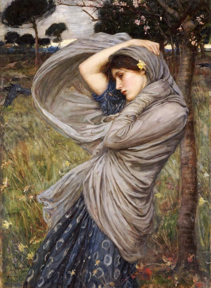 John William Waterhouse Boreas, Kanvas Tablo, John William Waterhouse, kanvas tablo, canvas print sales
