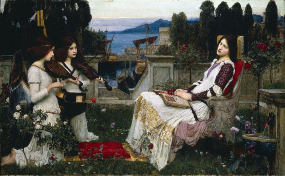 John William Waterhouse Saint Cecilia, Kanvas Tablo, John William Waterhouse, kanvas tablo, canvas print sales