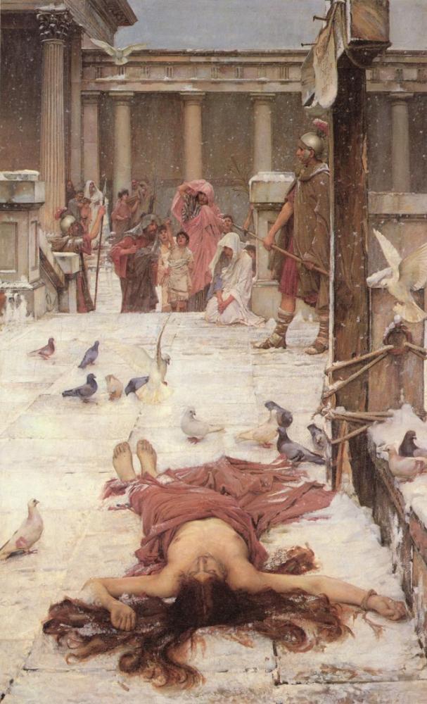 John William Waterhouse Saint Eulalia, Kanvas Tablo, John William Waterhouse, kanvas tablo, canvas print sales