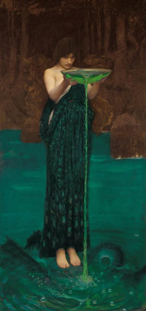 John William Waterhouse Circe Invidiosa, Kanvas Tablo, John William Waterhouse, kanvas tablo, canvas print sales