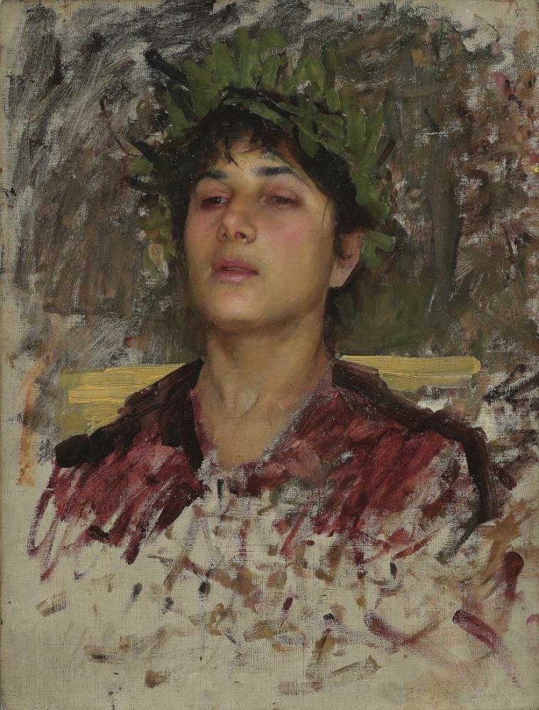 John William Waterhouse Genç Bir Adamın Başının İncelenmesi, Kanvas Tablo, John William Waterhouse, kanvas tablo, canvas print sales