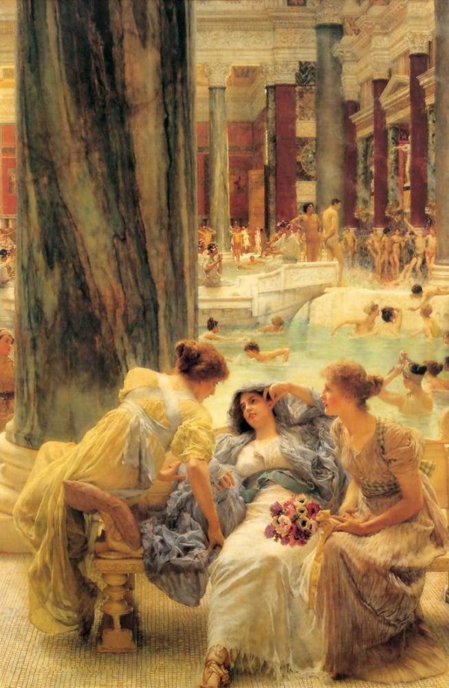 John William Waterhouse Caracalla Hamamları, Kanvas Tablo, John William Waterhouse, kanvas tablo, canvas print sales