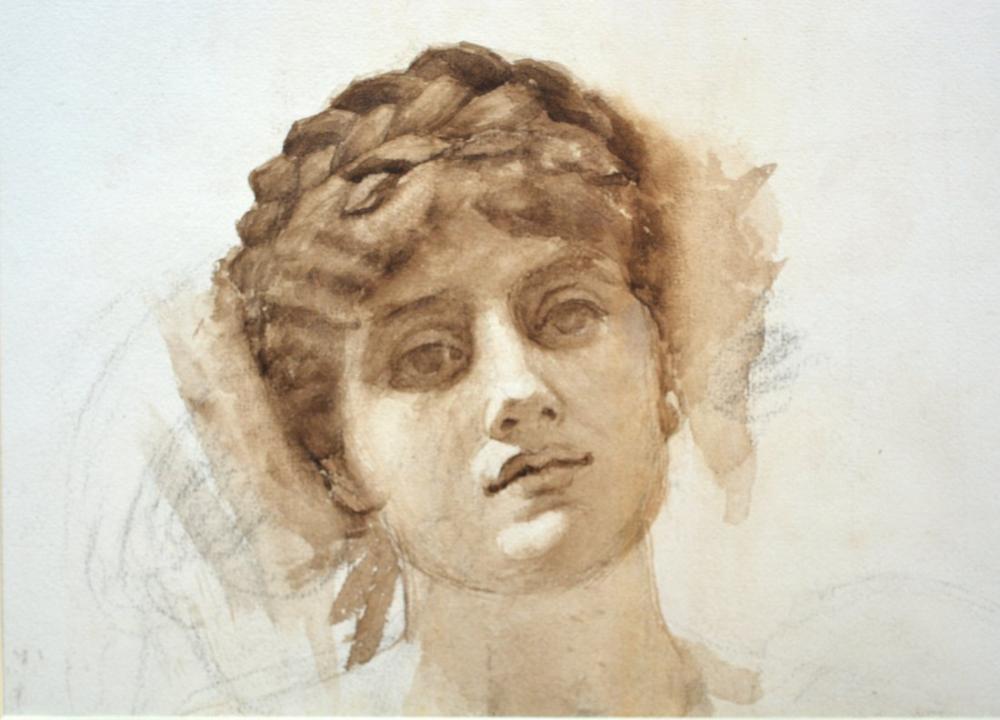 John William Waterhouse Bir Kadının Başı, Kanvas Tablo, John William Waterhouse, kanvas tablo, canvas print sales