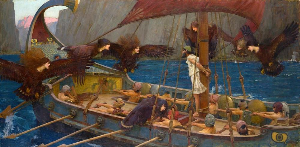 John William Waterhouse Ulysses Ve Sirenler, Kanvas Tablo, John William Waterhouse, kanvas tablo, canvas print sales