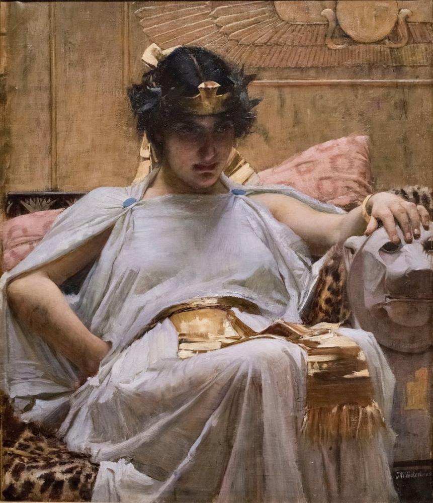 John William Waterhouse Kleopatra, Kanvas Tablo, John William Waterhouse, kanvas tablo, canvas print sales