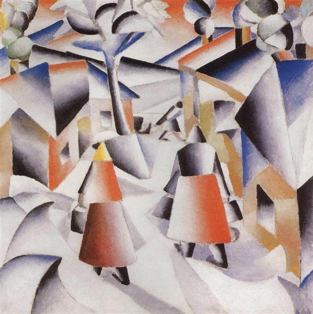 Kazimir Malevich Morning in the Village After Snowstorm, Canvas, Kazimir Malevich, kanvas tablo, canvas print sales