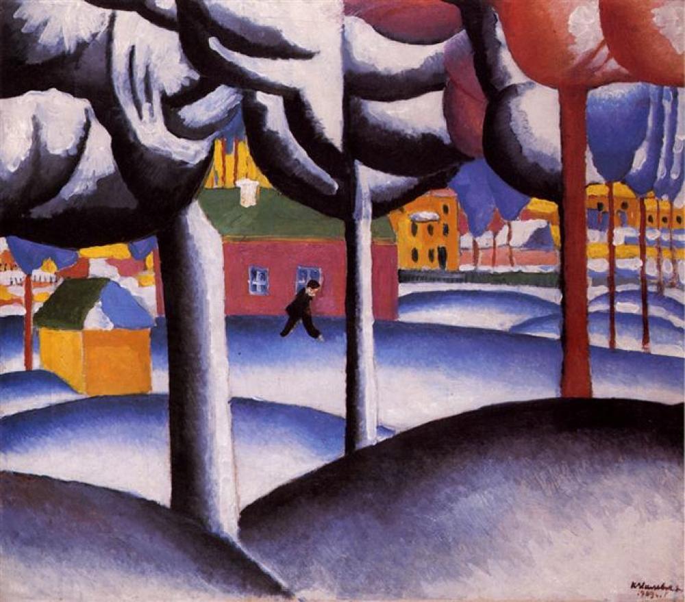 Kazimir Malevich Kış Manzarası Yağlıboya Tablo, Kanvas Tablo, Kazimir Malevich, kanvas tablo, canvas print sales