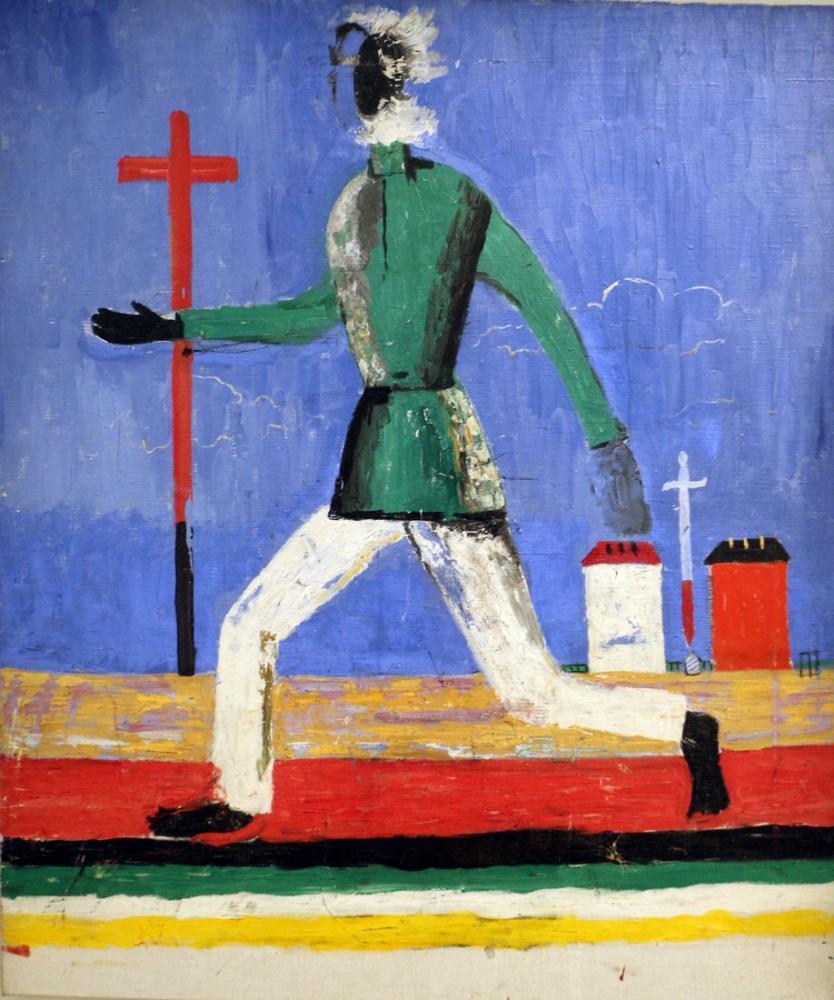 Kazimir Malevich The Man Who Runs, Canvas, Kazimir Malevich, kanvas tablo, canvas print sales