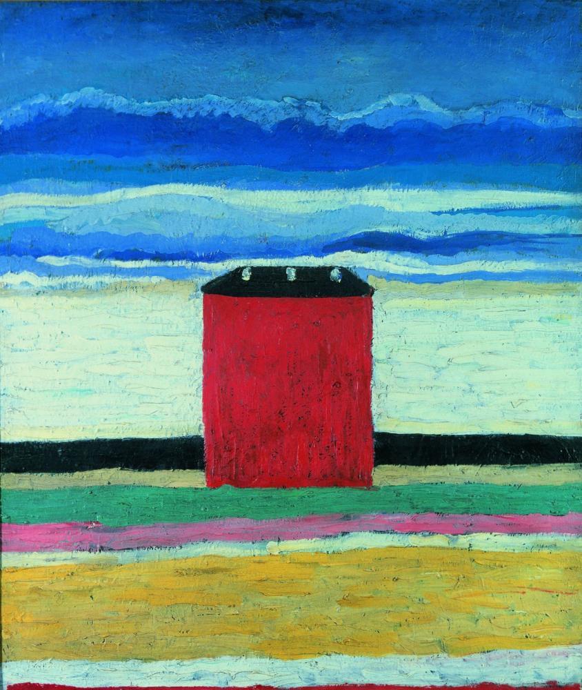 Kazimir Malevich The Red House, Canvas, Kazimir Malevich, kanvas tablo, canvas print sales