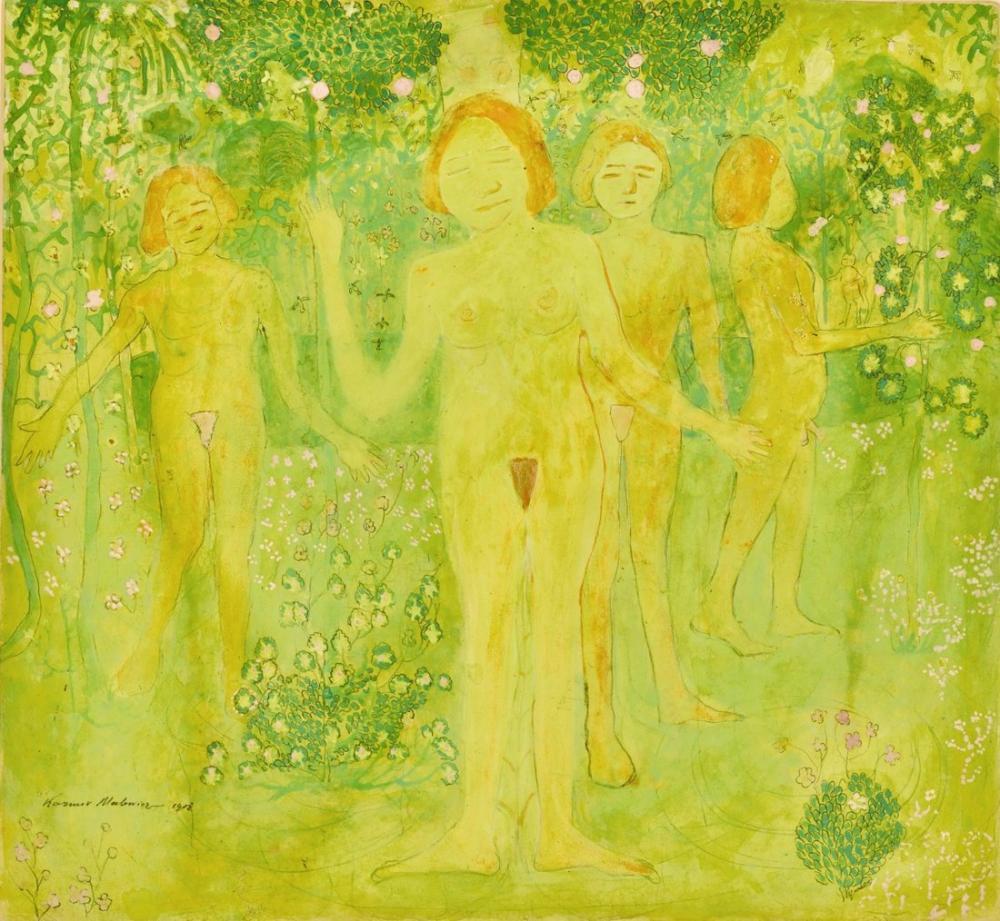 Kazimir Malevich İvan Kliun Portresiyle Baştan Çıkarmanın Sırrı Verso, Kanvas Tablo, Kazimir Malevich, kanvas tablo, canvas print sales