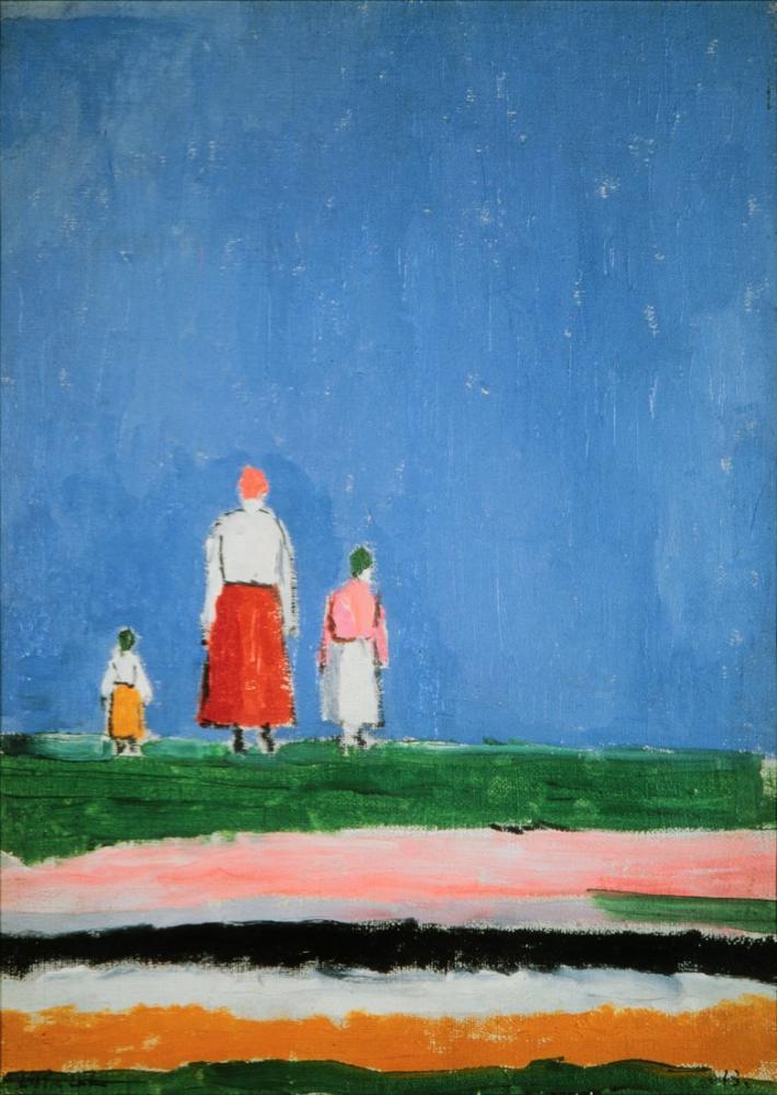 Kazimir Malevich Three Figures In A Field, Canvas, Kazimir Malevich, kanvas tablo, canvas print sales