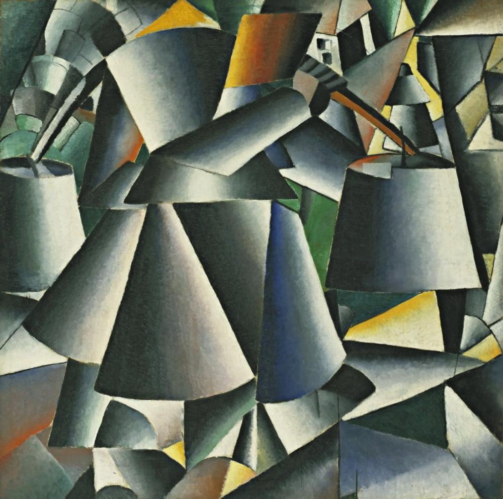 Kazimir Malevich Kovalı Kadın, Kanvas Tablo, Kazimir Malevich, kanvas tablo, canvas print sales