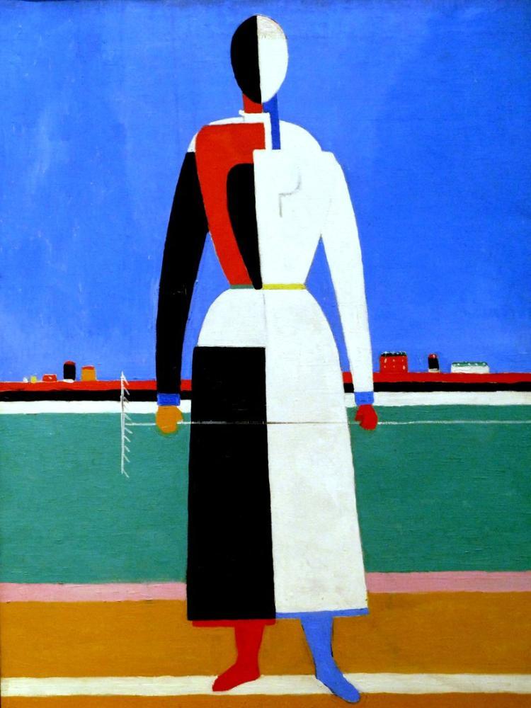 Kazimir Malevich Women with a Rake, Figure, Kazimir Malevich, kanvas tablo, canvas print sales