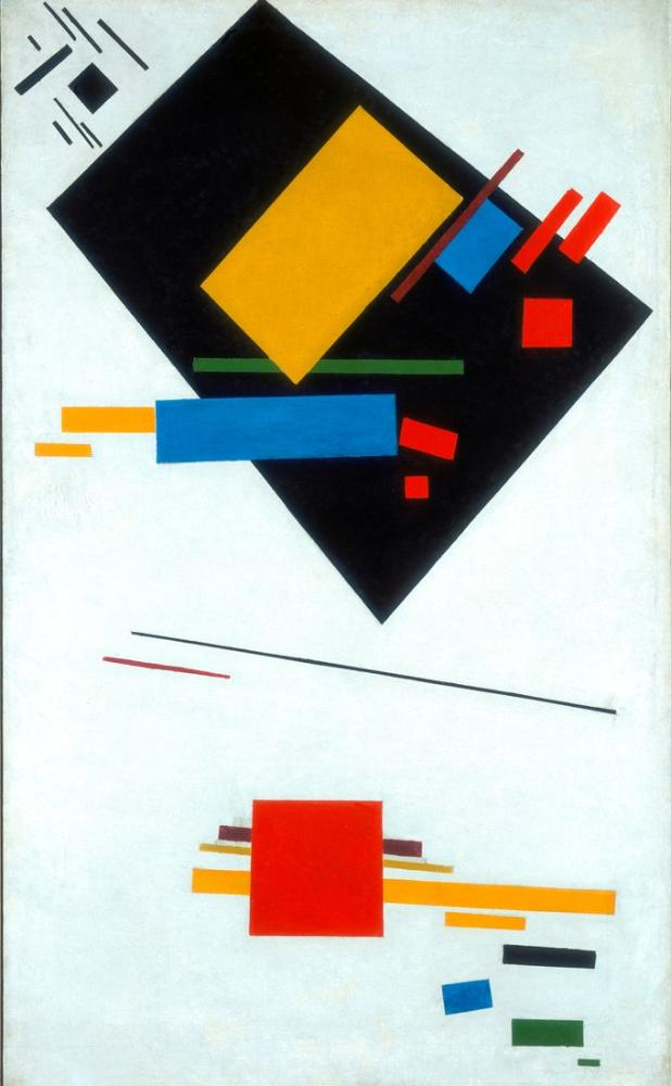 Kazimir Malevich Black Trapezium Red Square II, Canvas, Kazimir Malevich, kanvas tablo, canvas print sales