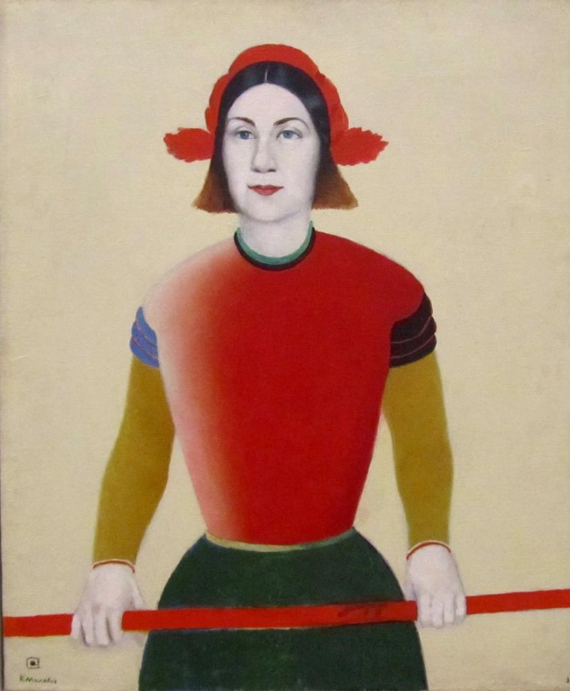 Kazimir Malevich Girl with a Red Pole, Figure, Kazimir Malevich, kanvas tablo, canvas print sales