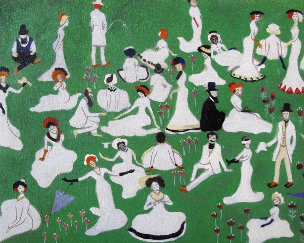 Kazimir Malevich High Society, Figure, Kazimir Malevich, kanvas tablo, canvas print sales