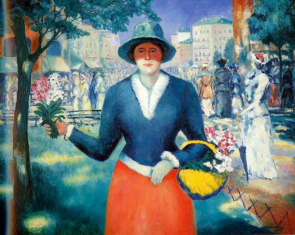 Kazimir Malevich Çiçek Satıcısı, Kanvas Tablo, Kazimir Malevich, kanvas tablo, canvas print sales