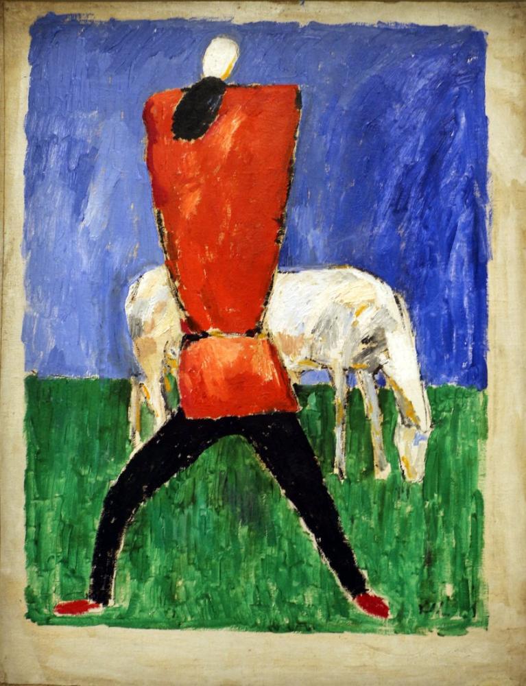 Kazimir Malevich Man and Horse, Figure, Kazimir Malevich, kanvas tablo, canvas print sales