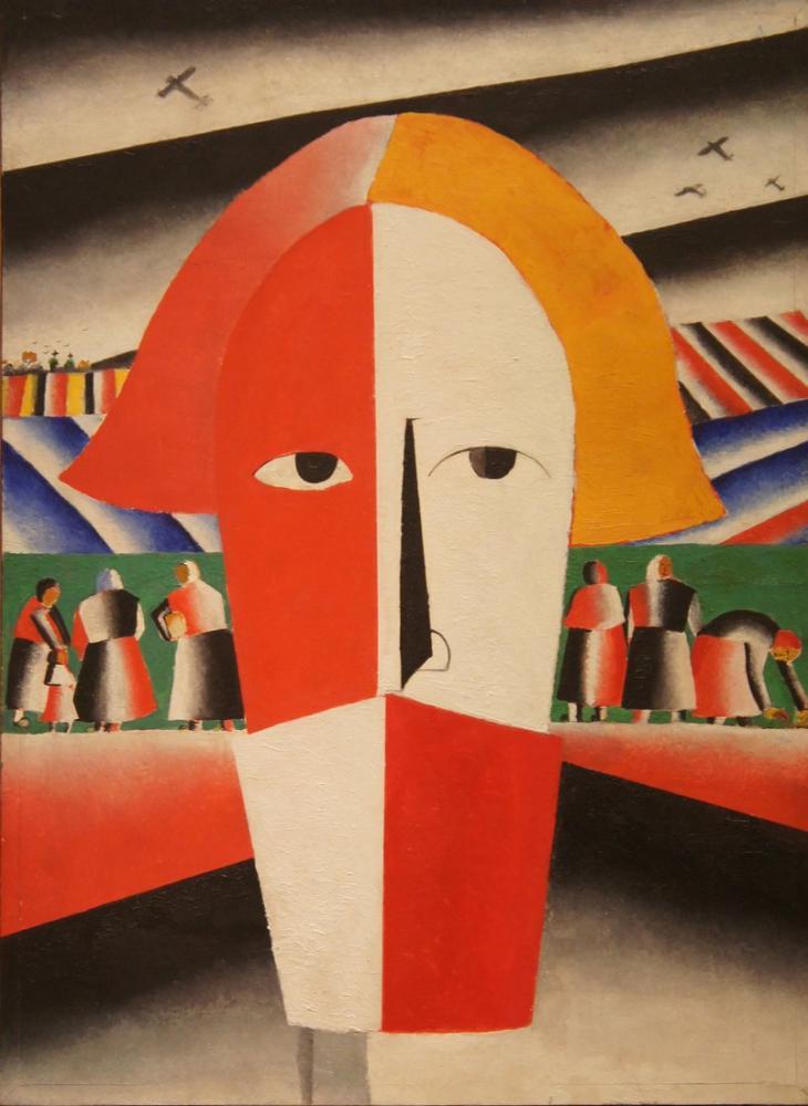Kazimir Malevich Peasant Head, Canvas, Kazimir Malevich, kanvas tablo, canvas print sales