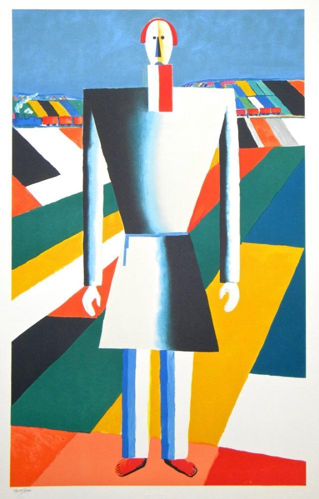 Kazimir Malevich Alanda Köylü, Kanvas Tablo, Kazimir Malevich, kanvas tablo, canvas print sales