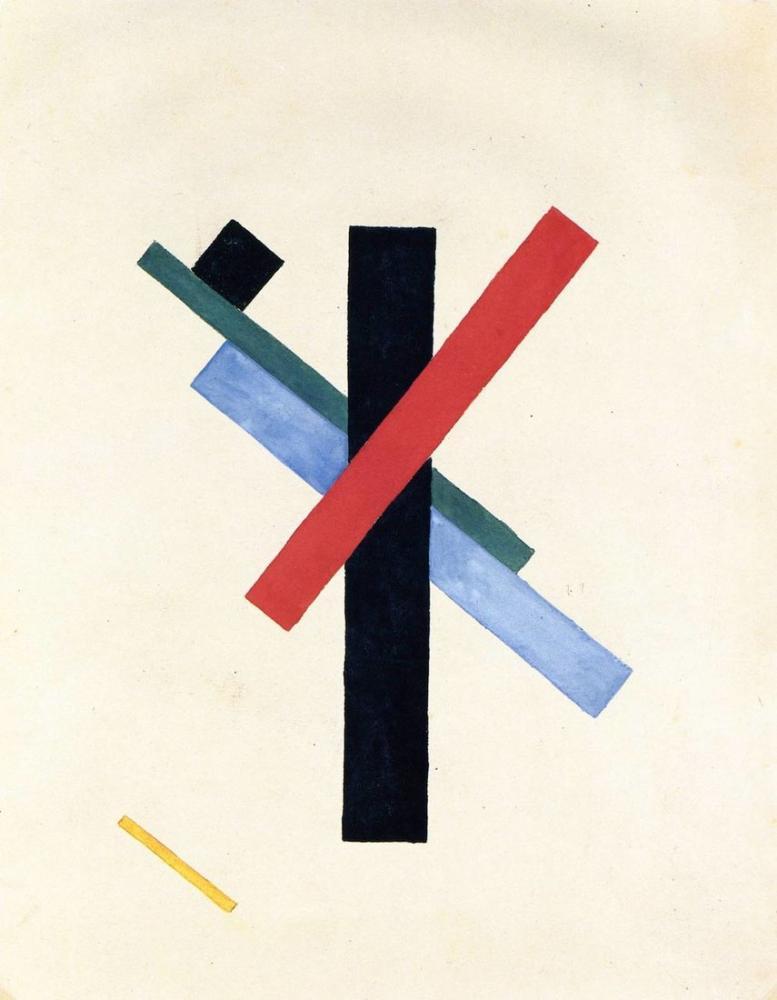 Kazimir Malevich Suprematist Composition, Canvas, Kazimir Malevich, kanvas tablo, canvas print sales
