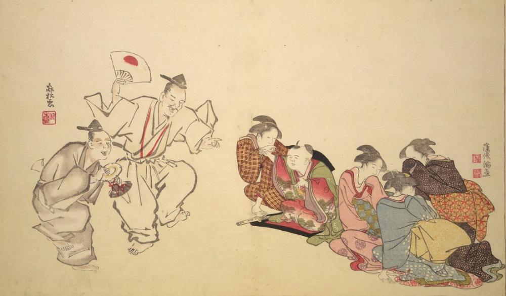 Kitagawa Utamaro, A Show, Canvas, Kitagawa Utamaro, kanvas tablo, canvas print sales