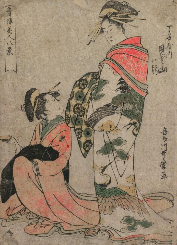 Kitagawa Utamaro, Misyama of Chojiya, Canvas, Kitagawa Utamaro, kanvas tablo, canvas print sales
