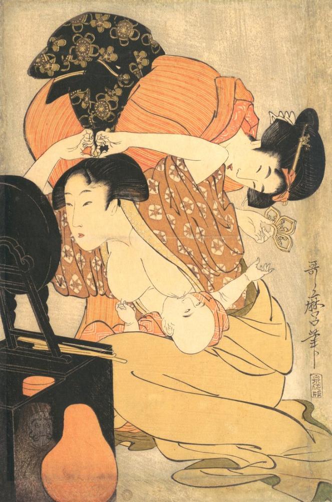 Kitagawa Utamaro, Baby, Canvas, Kitagawa Utamaro, kanvas tablo, canvas print sales