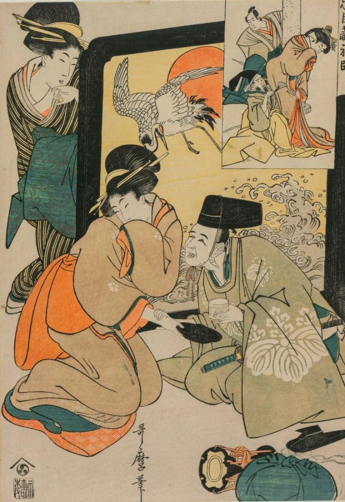 Kitagawa Utamaro, Chushingura Act I of The Storehouse of Loyalty, Canvas, Kitagawa Utamaro, kanvas tablo, canvas print sales