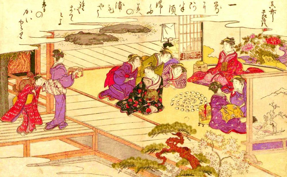Kitagawa Utamaro, Gifts from the Ebb Tide 2, Canvas, Kitagawa Utamaro, kanvas tablo, canvas print sales