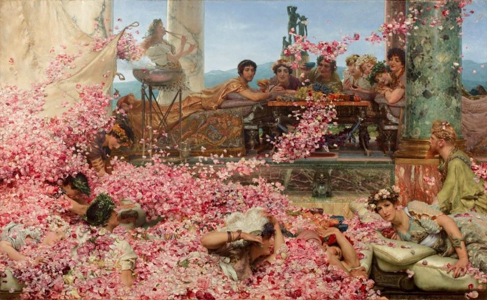 The Roses of Heliogabalus, Lawrence Alma-Tadema, Canvas, Lawrence Alma-Tadema, kanvas tablo, canvas print sales