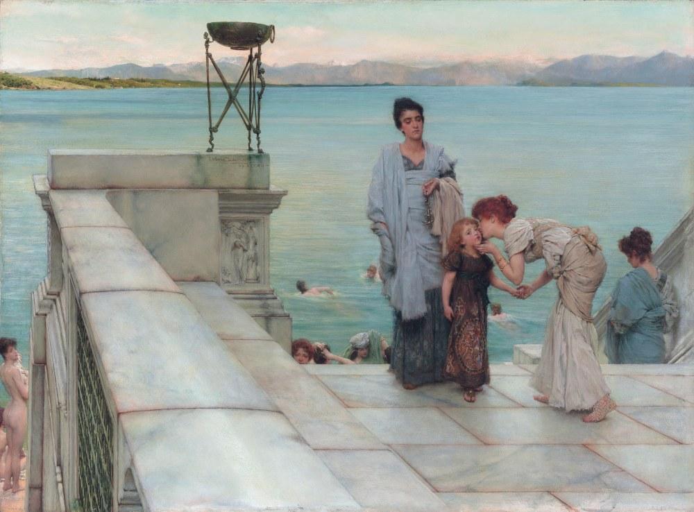 A Kiss, Lawrence Alma-Tadema, Canvas, Lawrence Alma-Tadema, kanvas tablo, canvas print sales
