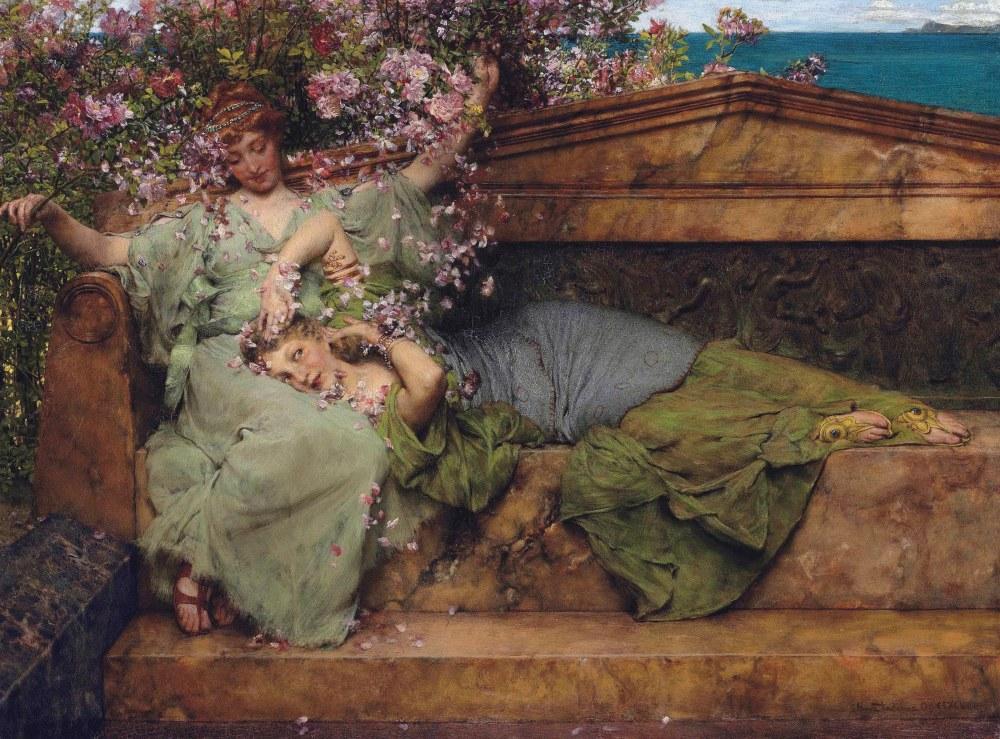 Bir Gül Bahçesinde, Lawrence Alma-Tadema, Kanvas Tablo, Lawrence Alma-Tadema, kanvas tablo, canvas print sales