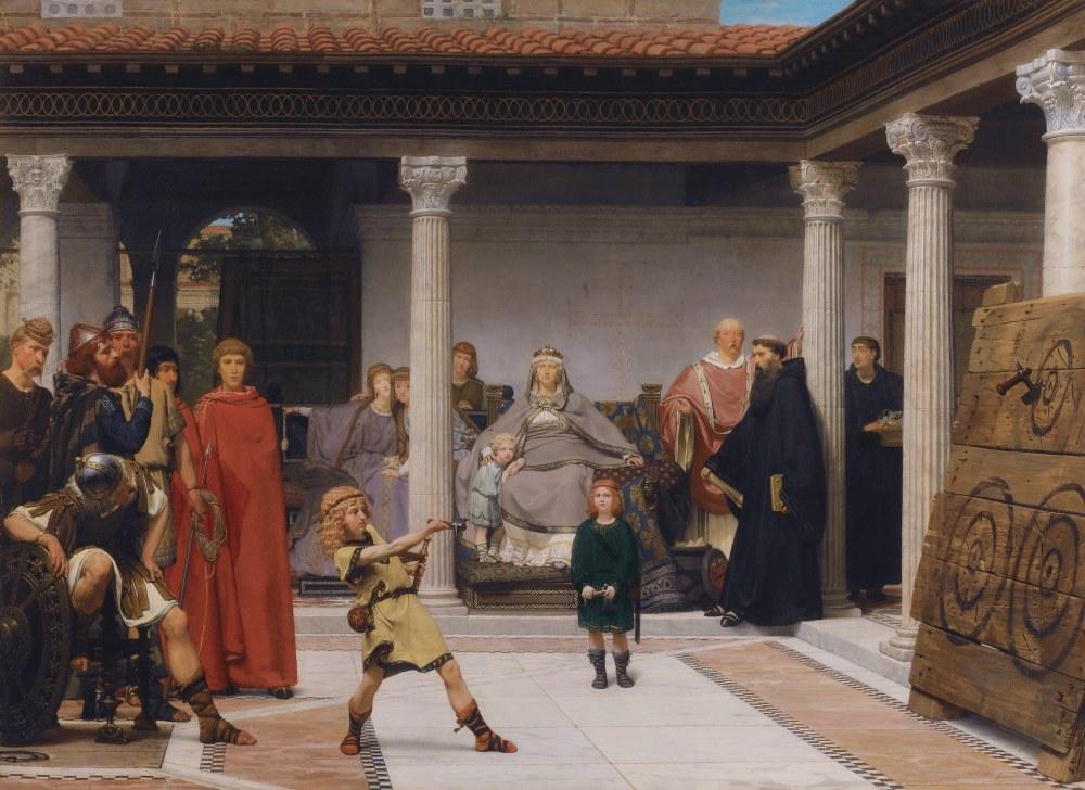 Clovis Çocuklarının Eğitimi, Lawrence Alma-Tadema, Kanvas Tablo, Lawrence Alma-Tadema, kanvas tablo, canvas print sales