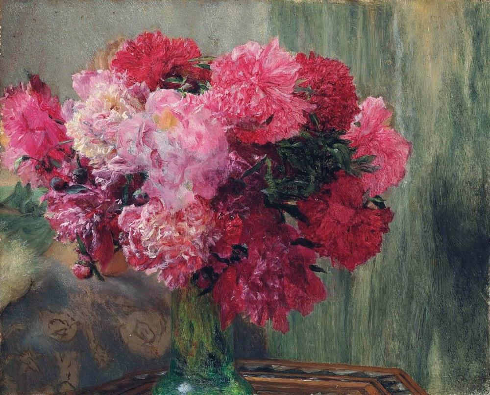 Japanese Peonies, Lawrence Alma-Tadema, Canvas, Lawrence Alma-Tadema, kanvas tablo, canvas print sales