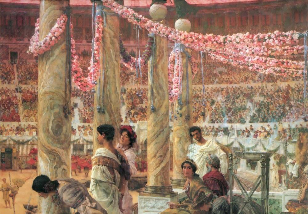 Caracalla ve Geta, Lawrence Alma-Tadema, Kanvas Tablo, Lawrence Alma-Tadema, kanvas tablo, canvas print sales