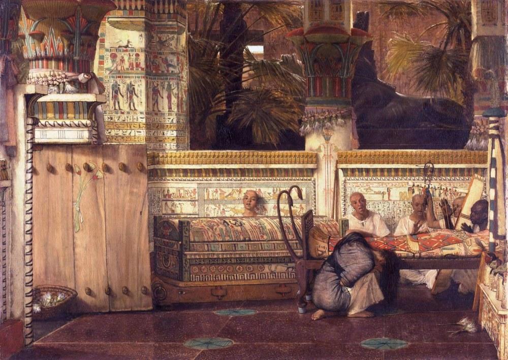 The Egyptian Widow, Lawrence Alma-Tadema, Canvas, Lawrence Alma-Tadema, kanvas tablo, canvas print sales