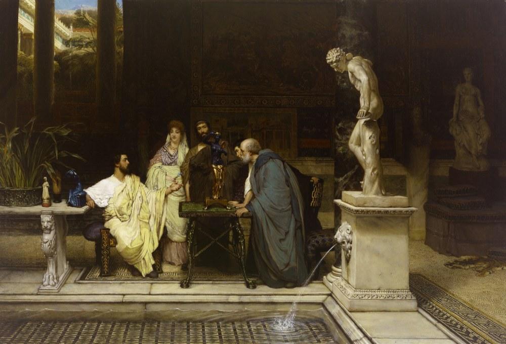 Romalı Bir Sanatsever, Lawrence Alma-Tadema, Kanvas Tablo, Lawrence Alma-Tadema