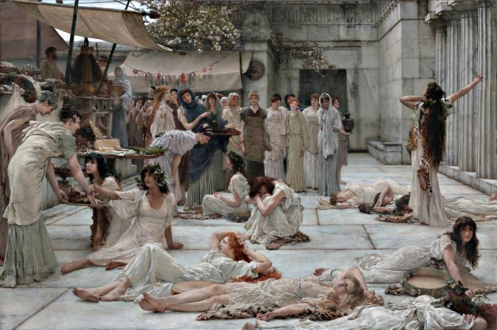 Amphissa Kadınları, Lawrence Alma-Tadema, Kanvas Tablo, Lawrence Alma-Tadema, kanvas tablo, canvas print sales
