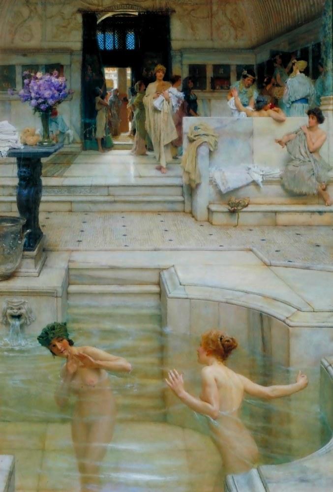 A Favourite Custom, Lawrence Alma-Tadema, Canvas, Lawrence Alma-Tadema, kanvas tablo, canvas print sales