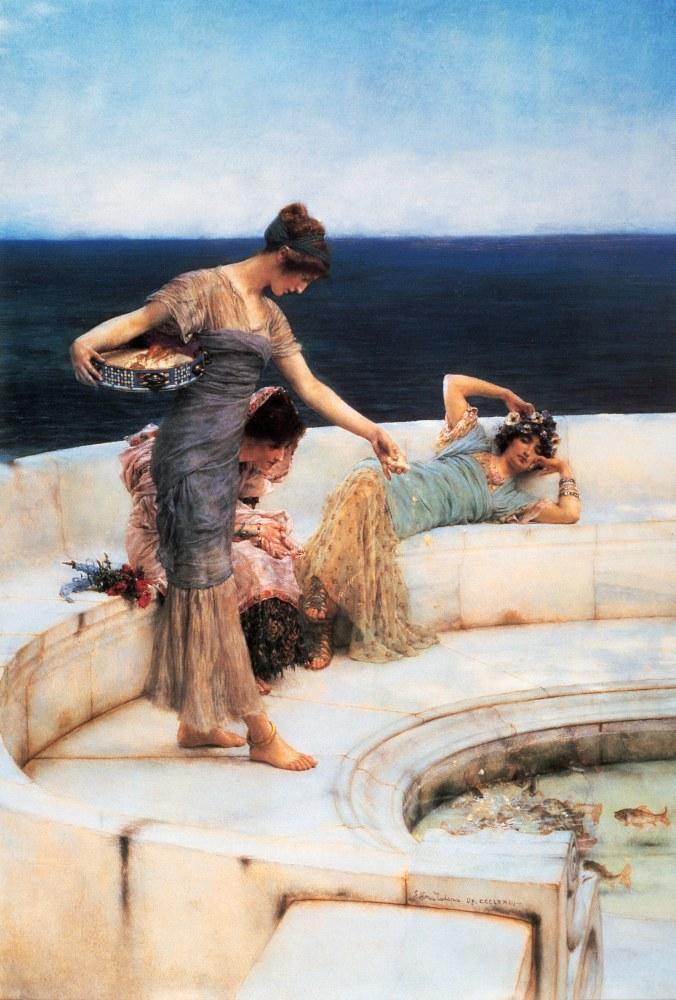 Gümüş Favoriler, Lawrence Alma-Tadema, Kanvas Tablo, Lawrence Alma-Tadema, kanvas tablo, canvas print sales