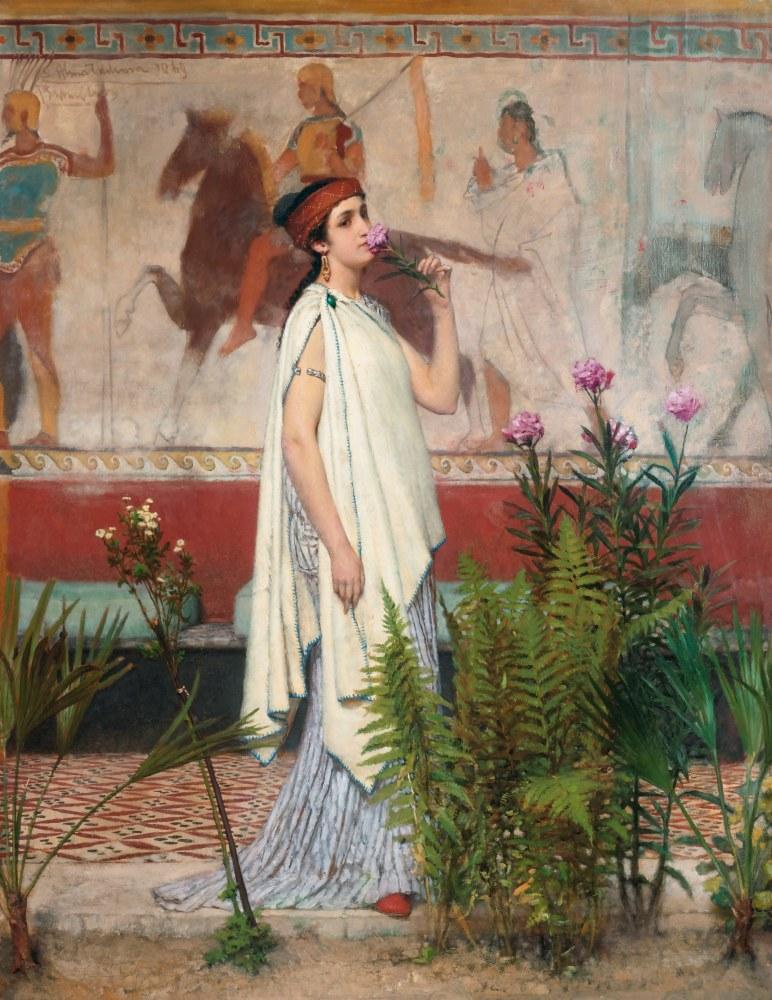 Yunanlı Bir Kadın, Lawrence Alma-Tadema, Kanvas Tablo, Lawrence Alma-Tadema, kanvas tablo, canvas print sales