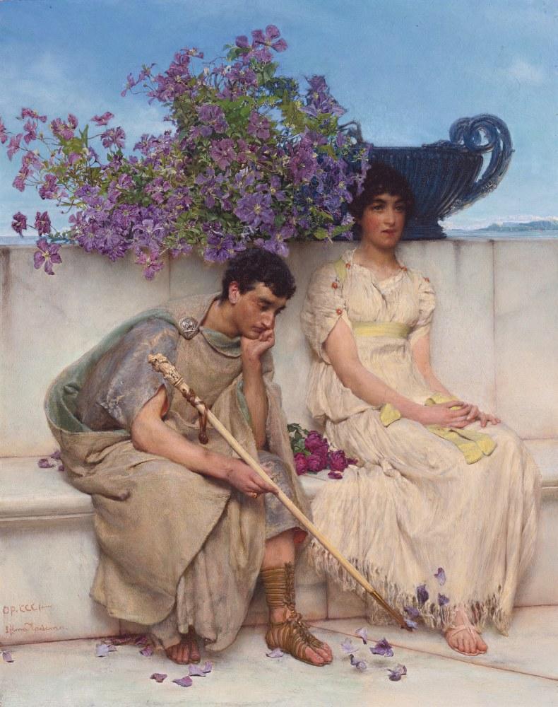 An Eloquent Silence, Lawrence Alma-Tadema, Canvas, Lawrence Alma-Tadema, kanvas tablo, canvas print sales