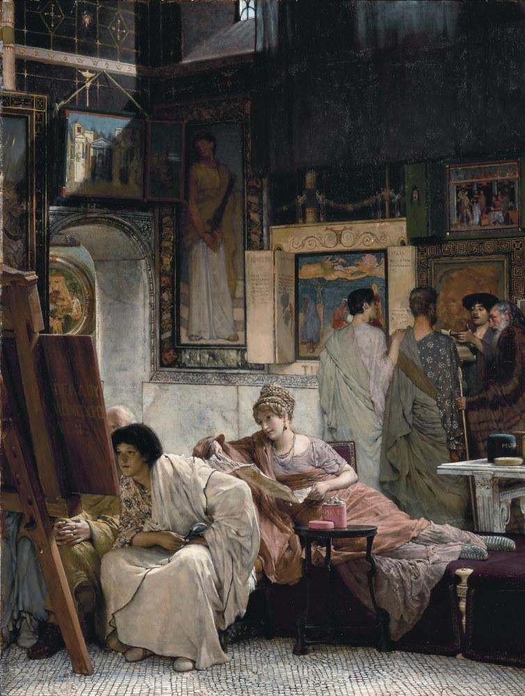 A Picture Gallery, Lawrence Alma-Tadema, Canvas, Lawrence Alma-Tadema, kanvas tablo, canvas print sales