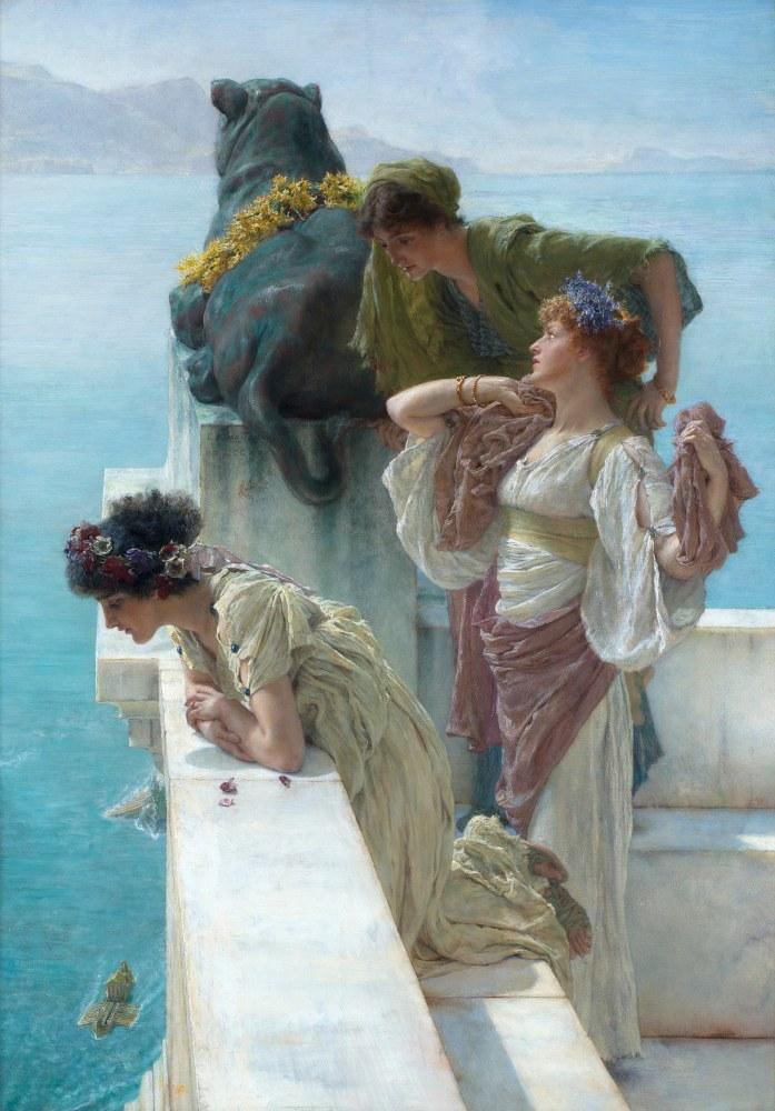 Vantage Çekirdeği, Lawrence Alma-Tadema, Kanvas Tablo, Lawrence Alma-Tadema, kanvas tablo, canvas print sales