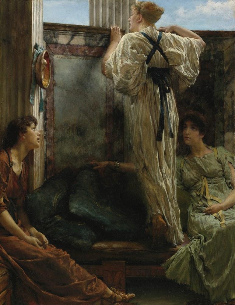 Kim O, Lawrence Alma-Tadema, Kanvas Tablo, Lawrence Alma-Tadema